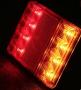 2x Waterdichte 8 LED Rood Geel Achterlichten aanhanger